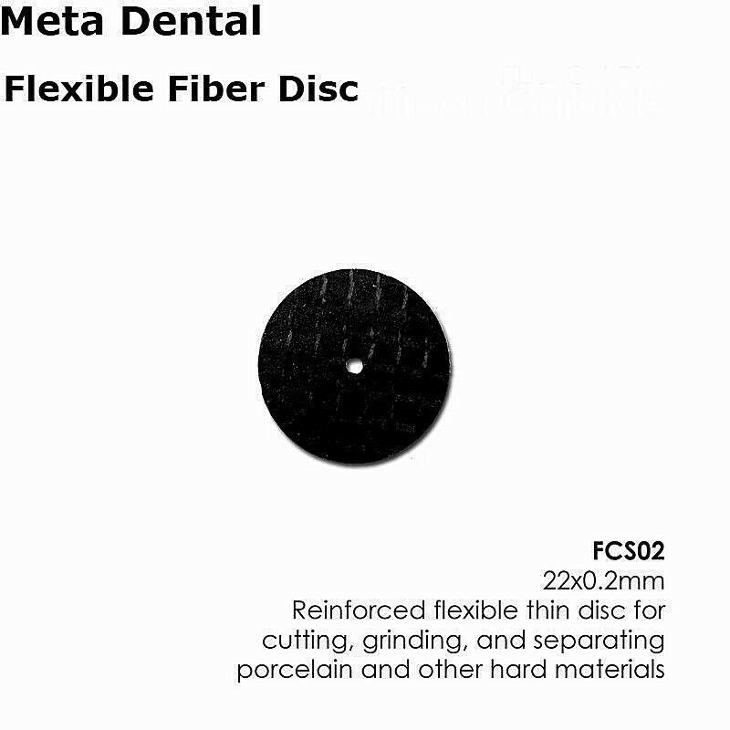 Fiber Disc Silicon Carbide (22mm x 0.2mm) Porclain Zirconia Metals 20/Box FCS02