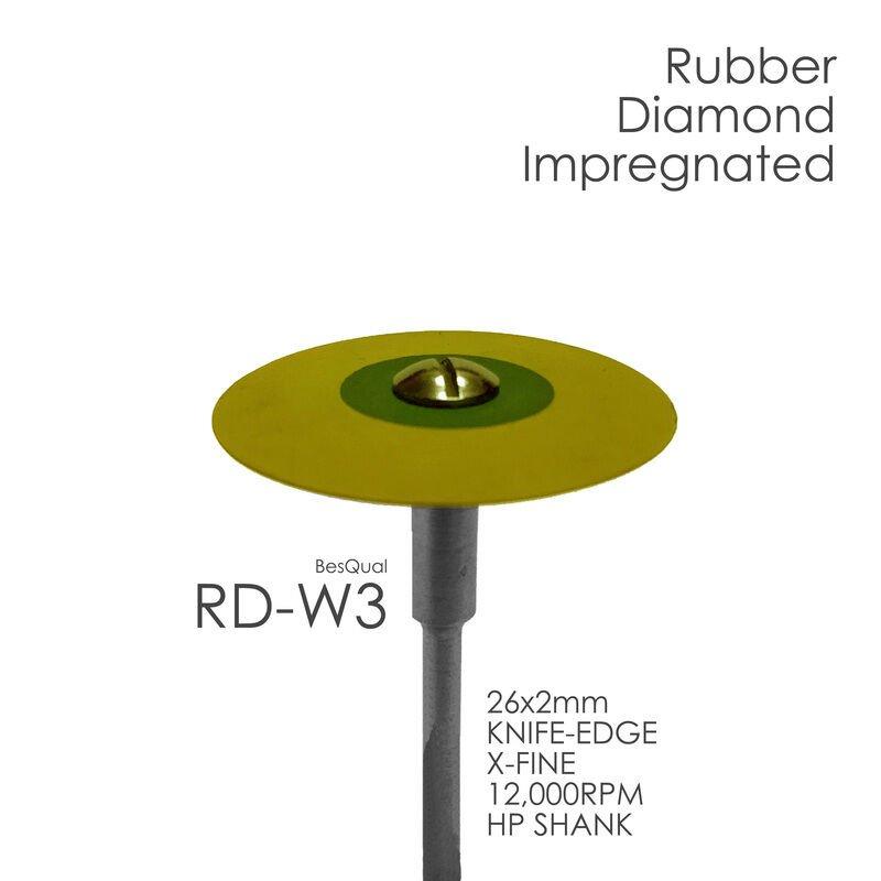 Besqual Rubber Diamond Impregnated Wheel x-Fine 12K Knife Edge RD-W3