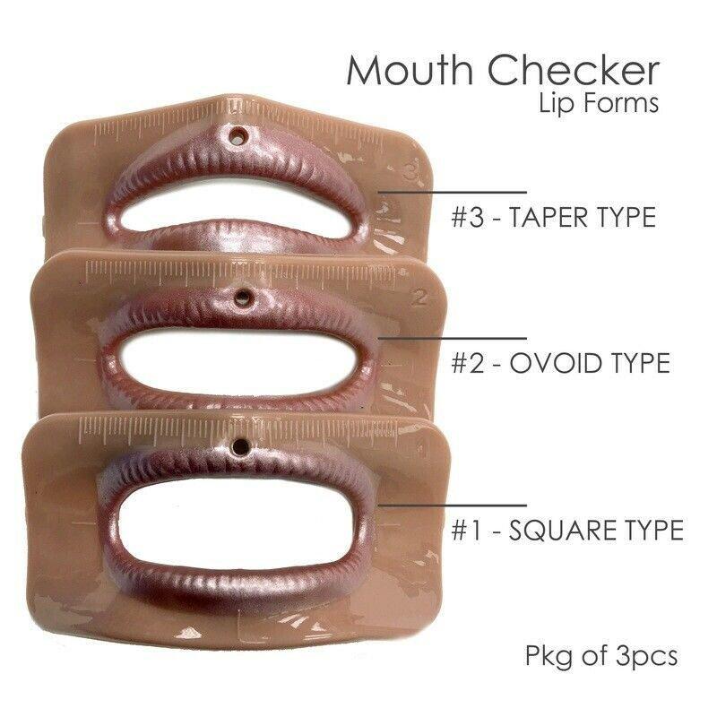 Mouth Checker, Lip Forms - Set of 3 pcs