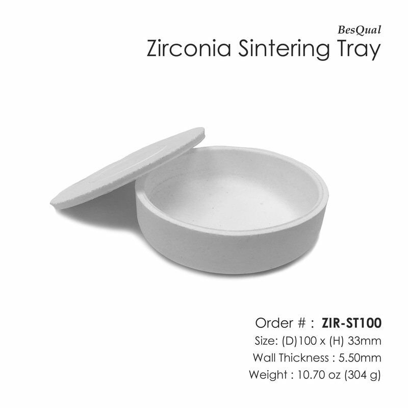 Zirconia Sintering Tray (100 mm / 4.0 inches)