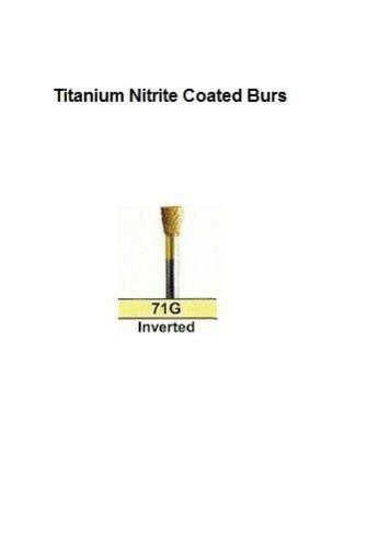Titanium Nitrite Coated Carbide Burs 71G Inverted Coarse Diamond Cut