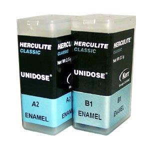 Herculite Classic Unidose - Enamel A2 EXPORT PACKAGE microhybrid composite, 20