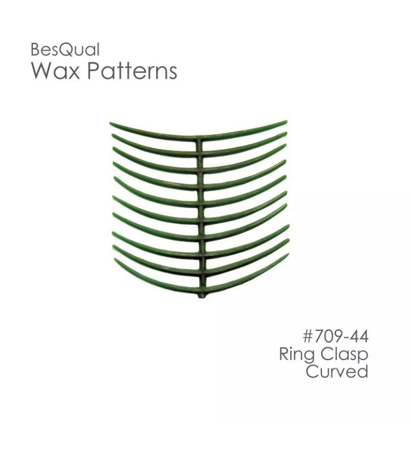 Dental Lab Wax Patterns Ring Claps Curved 10 patterns ( 200pcs )