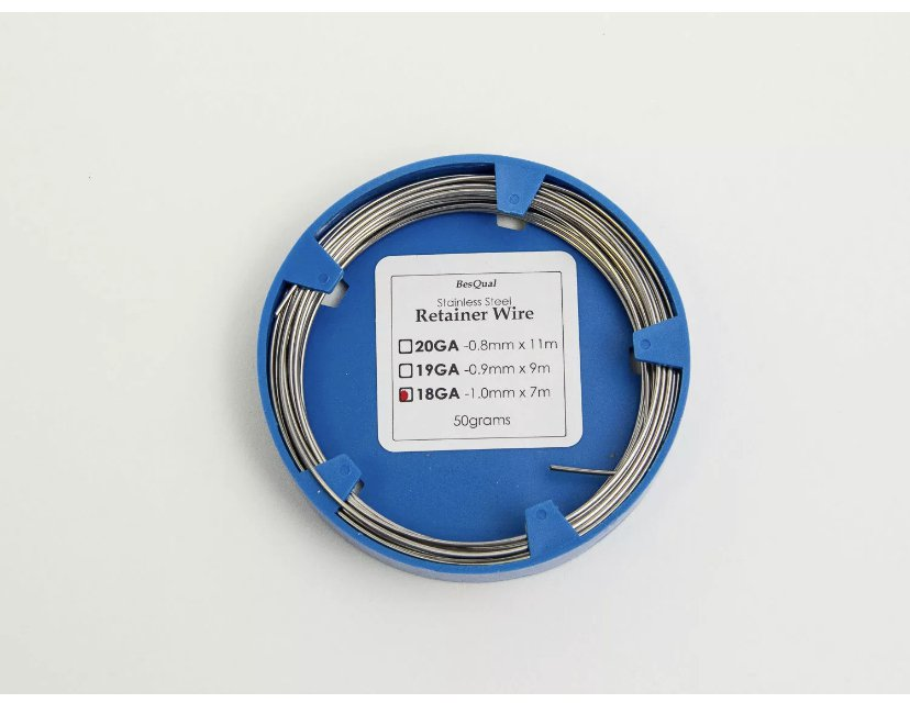 Retainer Wire Stainless Spooled 18GA 1mm (0.040in) x 7m 500g
