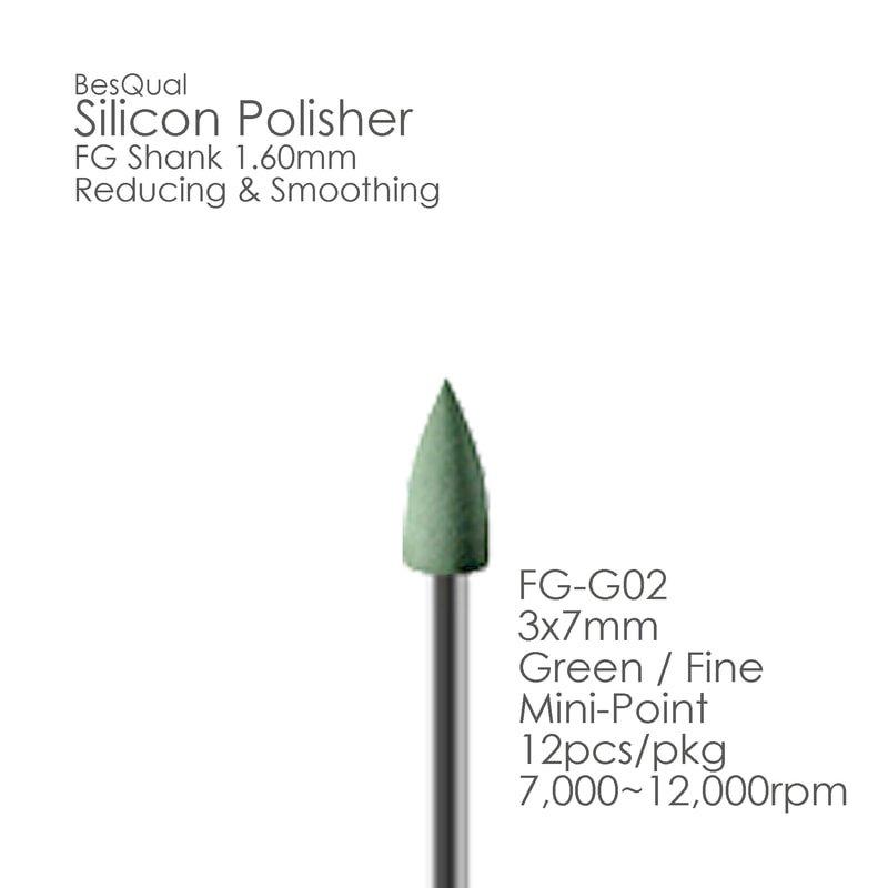 Green FG Silicon Polisher FG02