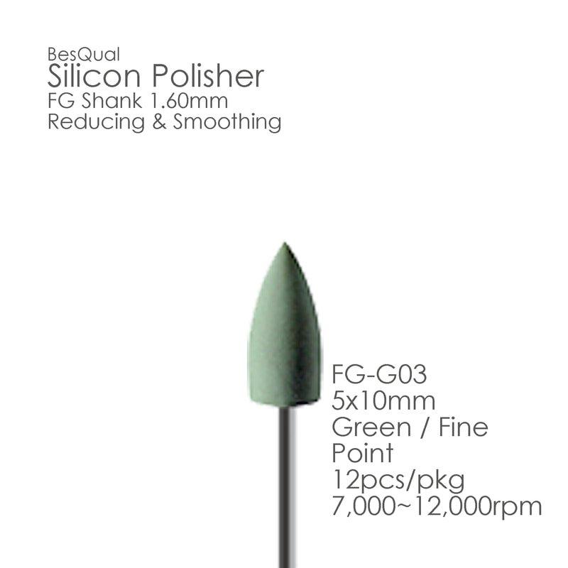 Green FG Silicon Polisher FG03