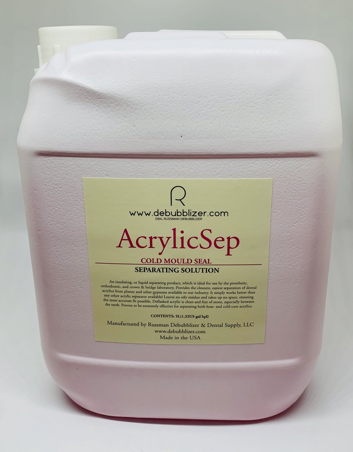 AcrylicSep Separating Solution, 5 litters jar