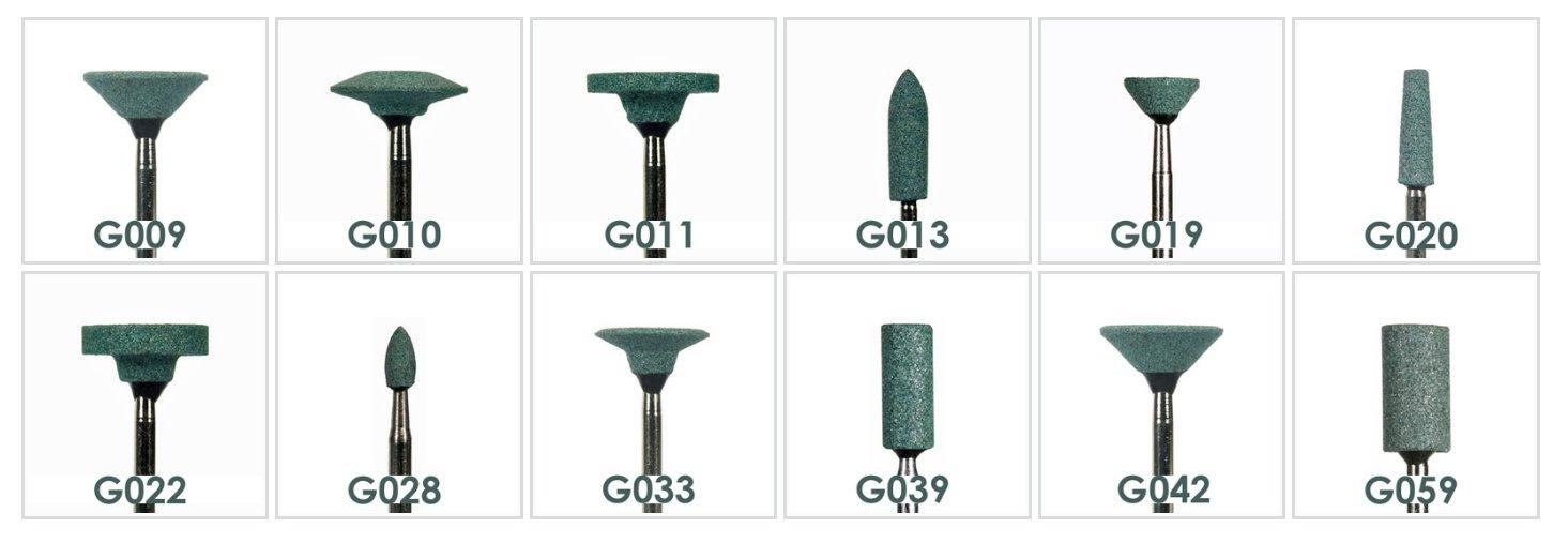 Green Mounted Stones HP G013 (100pcs)