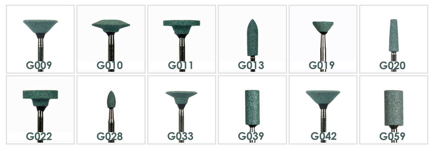 Green Mounted Stones HP G042 (100pcs)