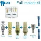 DSI Dental Implant All-included Kit Abutments Transfer Analog Healing Cap Screws