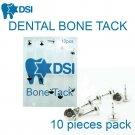 DSI Dental Implant Bone Tack Membrane Fixation Titanium Pin Surgical 3mm 10pcs
