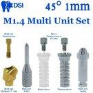 DSI Dental Implant Angulated Abutment M1.4 Multi Unit Full Set 8Pcs 45° 1mm