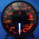 Osiris Professional 60mm Stepper Motor Oil Temperature Gauge BLACK RIM