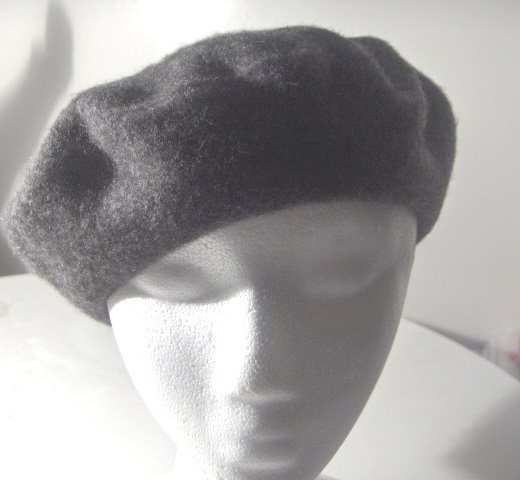 Women Men Charcoal Gray French Beret Tam Hat Cap