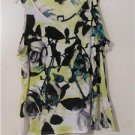 Brand New Women Floral Shirt Blouses  Summer CruiseTops Sleeveless Size XL