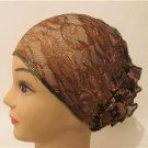 New Women Lace Scarf Cover up Turban Derby Wedding Church Beach Dress Hat