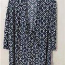 Brand New Women Plus Size 1X Tunic Cardigan Cover Shirt Dress Tops 3/4 Sleeve