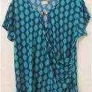 Brand New Women Abstract Shirt Blouses Summer CruiseTops Sleeveless Size Plus 3X