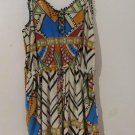 Brand New Women Abstract Jumpsuit Romper Sleeveless Shorts Pants Cover Up SZ M