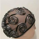 New Women Scarf Cover up Turban Chemo Derby Wedding Church Beach Dress Black Hat