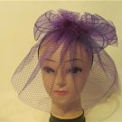 Veil Fascinator Formal Dress Purple Church Wedding Bridesmaids Kentucky Headband