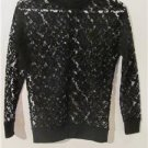 Brand New Black Lace Sexy Pull Over Shirt Blouses Tops Long Sleeve Size S