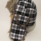 New Men Women Buffalo Plaid Fur Trooper Bomber Ski Snow Christmas Gift Hat Cap