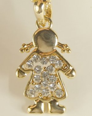 Gold  Plated  Gilt  Girl  Angel  Pendant  Charm  Chain  Necklace