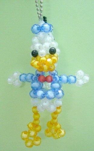 Donald Duck Crystal Beads Handmade Key Chain Ring
