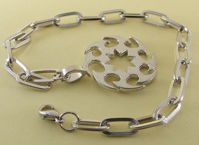 Rowel Rhodium Anklet / Bracelet 27 cm.