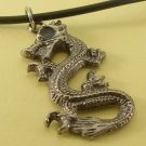 Dragon Pendant Charm Rubber Chain Necklace