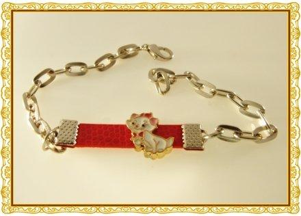 Aristocats  Duchess,  Sexy  Cat  Rhodium Anklet / Bracelet