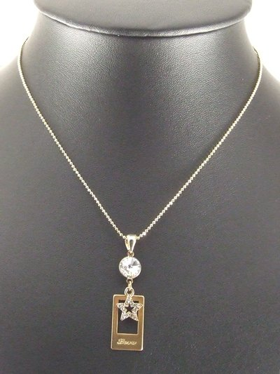 Love Star Gold Plated Gilt Pendant Charm Necklace