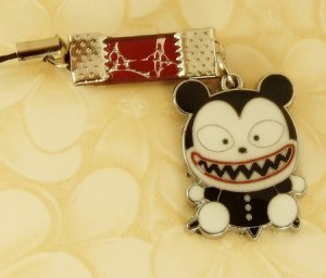 Black  Monster  Beast  Mobile Key Chain, Cell Phone Charm