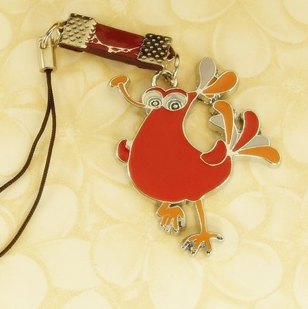 Red  Monster  Beast  Mobile Key Chain, Cell Phone Charm