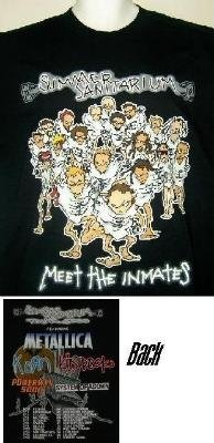 Metallica Summer Sanitarium Meet The Inmates Tour T-Shirt