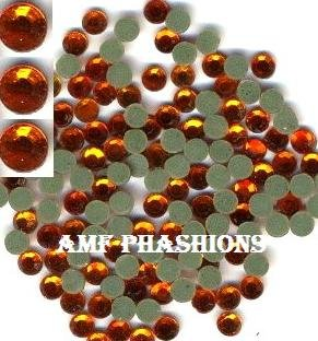 Orange Rhinestones Hot Fix 6mm/30ss