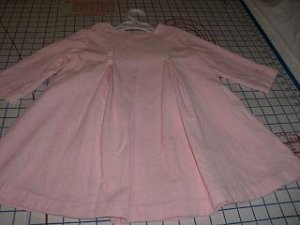 Pink corduroy dress