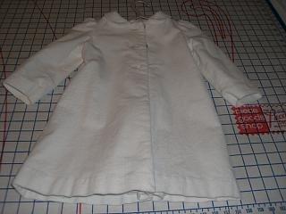 white corduroy coat