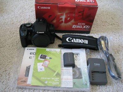 New Canon Black EOS Rebel XTi 400D 10.1 MP Digital SLR