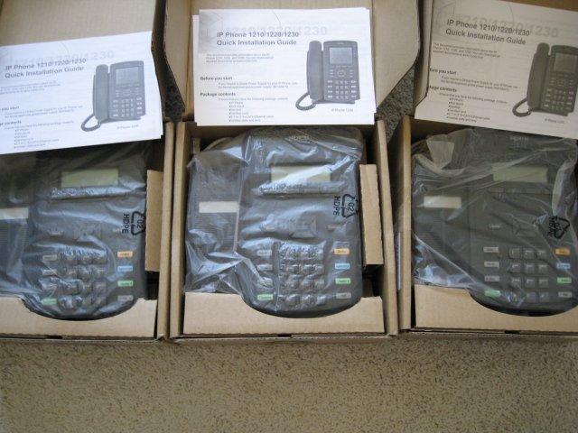 3 units Nortel IP Phones 1210