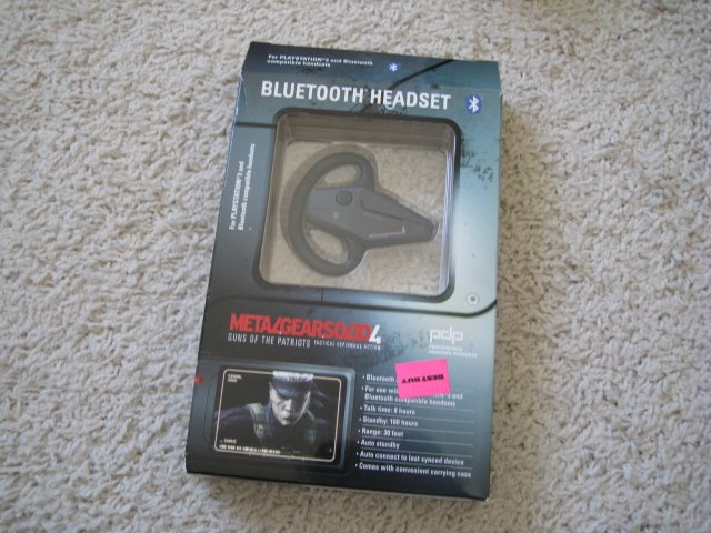 Playstation 3 Metal Gear Solid Bluetooth Headset