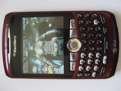 AT&T Red Edition Blackberry Curve 8310 PDA Smart Phone Email QWERT MP3