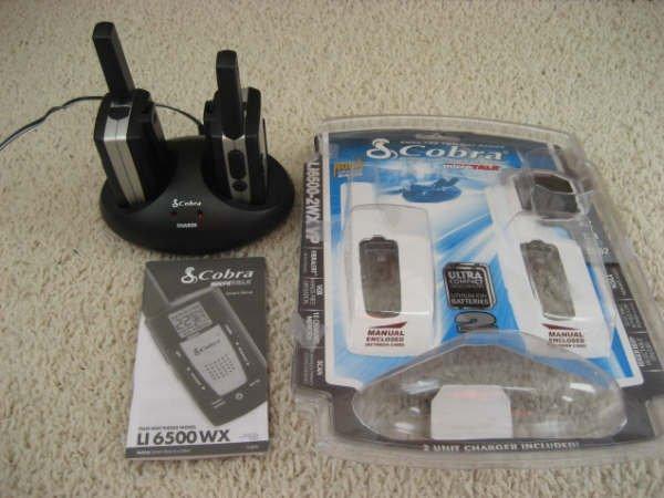 Cobra LI 6500-2 WX VP 20-Mile GMRS/FRS 2-Way Radio (Twin Pack)