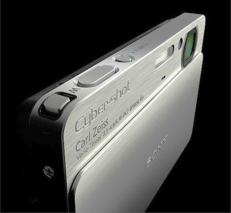 "Sony CyberyShot DSC-T77 Silver 10.1MP 4X Opt Zoom Full HD 3"" LCD Anti Blink"