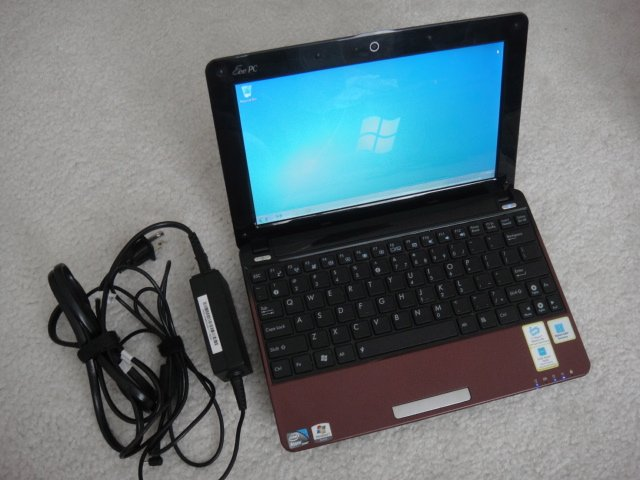 "Asus Eee PC 1005PEB Red Perl Netbook Intel Atom 1.66Ghz 1GB DDR2 250GB HD Webcam 10.1"" Wifi Win7"