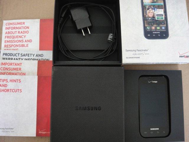 Verizon Samsung Fascinate Android SCH-i500 1Ghz 5.0MP AmoLED display Wifi BT Clean ESN#