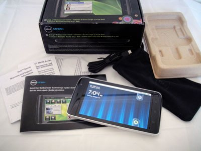 AT&T Dell Streak 5 White Android Tablet GSM 3G Wide Screen Gorlla Glass 1Ghz 5.0MP with Accessories