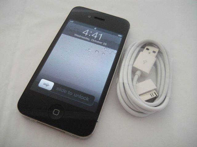 Verizon Iphone 4 32GB Black CDMA Retina Display iOs Wifi GPS S/N C8TF69F9DDP9
