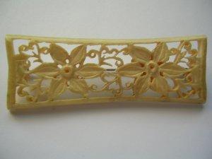 Pre-Ban Delicate Ivory or Bone Flower Pin